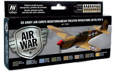 US Army Air Corps Mediterranean MTO Colors: 8 Airbrush Paints (Vallejo 71183)