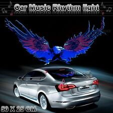 50x25cm Car Sticker Sound Activated Equalizer Music Rhythm LED Flash Light Lamp