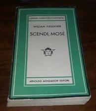 william faulkner-scendi,mose'-mondadori medusa 1947 prima edizione