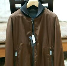 NEW Ermenegildo Zegna Men's Brown  Bomber Jacket Size Large/52 EU  $1995.00