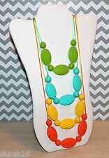 4 Necklaces Baby Teether Teething Nursing Jewelry Green Yellow Turquoise Orange