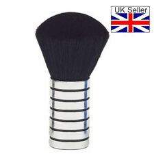 Neck Brush Small Silver & Black Plastic Body High Quality Soft Bristles