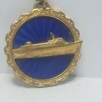 Home lines SS Oceanic Keyring Ship fob berton midland