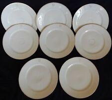 * Série de 8 assiettes anciennes XIXè (Porcelaine de Paris + Monogramme)