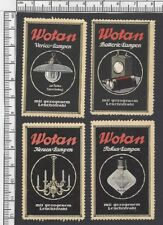 Germany WOTAN Lamps & Bulbs vintage advertisement poster stamps (7)