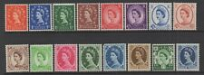Great Britain Sc#353-61, 363-69 Definitives,1958-65, Mint Hinged