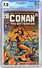 S432. CONAN THE BARBARIAN #1 Marvel CGC 7.0 FN/VF 1970 Origin/1st App. of CONAN