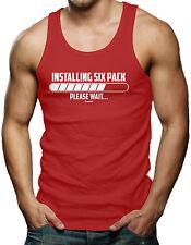 Installing Six Pack...Please Wait - Gym Workout Men's Tank Top T-shirt