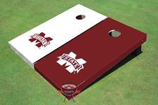 Mississippi State University Alternating Solid Custom Cornhole Board