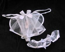 Victoria's Secret Bridal Bling Garter with Thong Veil Set Rhinestone Crystal L