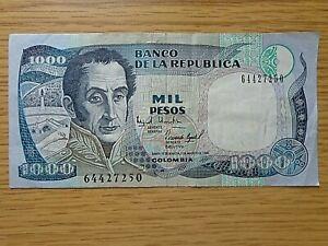 COLOMBIAN 1000 PESOS BILL / BILLETE CURRENCY EXTRA FINE  1995