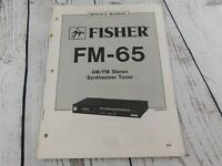 FISHER FM-65 AM/FM STEREO SYNTHESIZER TUNER  SERVICE MANUAL w/wiring diagram