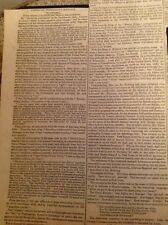 L1-1 Ephemera 1839 Article USA President Address Martin Van Buren December