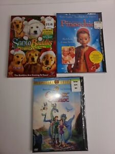 Lot Of 3 Sealed Kids Dvds Pinocchio, Santa Buddies, Quest For Camelot
