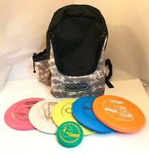 New Frisbee Disc Golf Innova Build Your Own 5 Pack Set w/ Camo Backpack Bag Mini