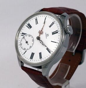 "Vintage 1900s Man Omega Swiss pocket watch movement Cal19""+origin dial+new case"