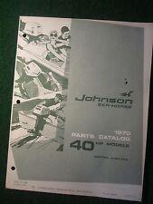 1970 Johnson Sea Horse Outboard Motor Part Catalog Manual 40 HP 40R70A 40RL70A