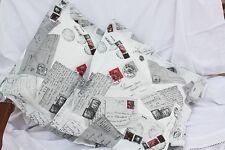 *Deko-Traeume* 2 Stuhlkissen Sitzkissen Postcards Weiß - Shabby Landhaus