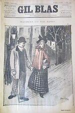 JOURNAL GIL BLAS N° 16 de 1893 AJALBERT DESSIN STEINLEN PARTITION MUSIQUE RATZ