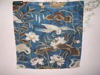 "Lee Jofa, GP & J Baker,""Heron & Lotus Flower"" fabric remnant various colors"