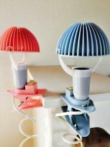 PAIR mushroom  Vintage retro mid century desk night lamps lights pink blue