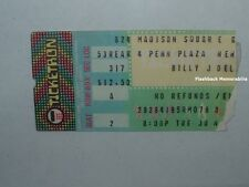 Billy Joel 1980 Concert Ticket Stub Madison Square Garden Nyc Glass Houses Rare