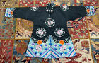 Beautiful Antique / Vintage Chinese Embroidery Silk Robe With Roundel Flowers
