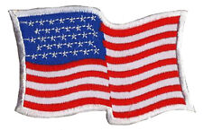 Patch badge patche écusson drapeau USA 80 x 50 mm brodé thermocollant