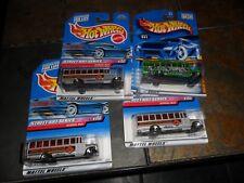 4 LOT Hot Wheels School Bus Street Art Series  # 952 & Fossil Fuel nr Mint