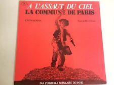 """a4 vinyl 12"""" JOSEPH KOSMA text de HENRY BASSIS A L'ASSAULT DU CIEL LA COMMUNE DE"""