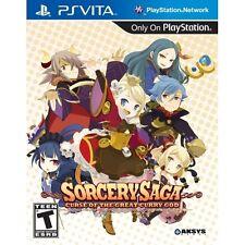 Sorcery Saga Curse of the Great Curry God Sony PlayStation PS Vita Brand New