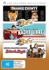 Orange County / Nacho Libre / School Of Rock (DVD, 2007, 3-Disc Set) R4 SEALED