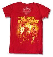 b83b3e48d79de BLACK EYED PEAS   TRUNK LTD  YELLOW PICTURE  RED T-SHIRT NEW LADIES