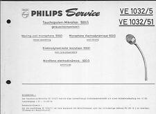 Philips Original Service Manual für  Tauchspulenmikrofon VE 1032