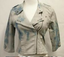 Sand washed 3/4 sleeve Girls/Ladies women Jean/Denim Jacket  Cotton Size S new
