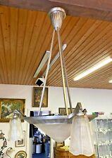 Antike Lampe Deckenleuchte Art Deco Mittelgroße Schale 3 Flammig  Eng. 12