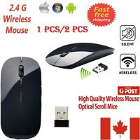 2.4GHz Wireless Optical Scroll Mouse Mice & USB For PC Laptop Computer 1600 DPI