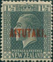 Aitutaki 1917 SG21 1½d slate KGV MH