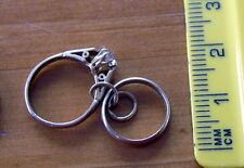 Vintage 9kt solid 9ct gold Wedding and Engagement Ring Charm 1.8 grams