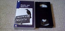 HAWKS AND SPARROWS UK PAL VHS Timecode Video UNCUT 85m Toto Pasolini Morricone