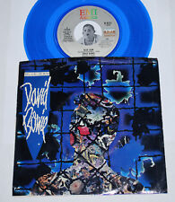 """DAVID BOWIE 45~Blue Jean / Dancing With The Big Boys~BLUE Vinyl 7"""" w/ Pic Sleeve"""