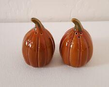 """Lovely """"Pumpkin/Gourd Shape"""" Ceramic Salt & Pepper Shakers - New"""