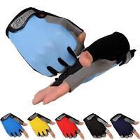 Sports Biking Bicycle Cycling Gel Pad Half Finger Gloves Fingerless Gloves