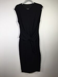 Blessed are the meek womens black maxi bodycon dress size 10 sleeveless