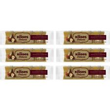 911021 6 x 33g PACKETS OF HERSHEY'S KISSES DELUXE WHOLE ROASTED HAZELNUT CENTER!