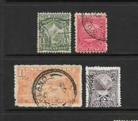 1900 Queen Victoria SG273 to SG276 Collection of 4 stamps  used New Zealand
