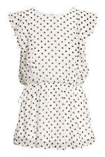 H&M White woman patterned nursing blouse MAMA (Size M, art.0541616001)