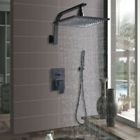 Shower Faucet System Combo 8 inch Rainfall Oil Rubbed Bronze With Hand Shower