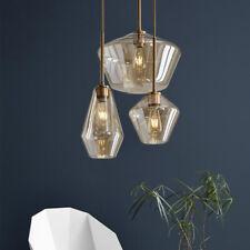 Modern 3-Light Glass Hanging Pendant Lamps Lighting Chandelier Ceiling Fixtures
