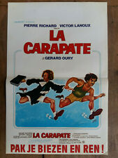 Affiche Belge LA CARAPATE Pak je biezen en ren ! Pierre RICHARD Victor LANOUX